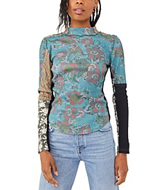 Meadow Mixed-Print Top