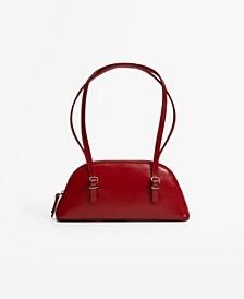 Women's Double Handle Baguette Bag