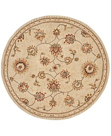 Wool and Silk 2000 2360 4' Round Rug