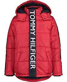 Toddler Boys Graphic Bubble Jacket