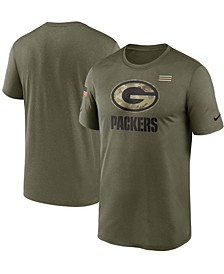 Men's Olive Green Bay Packers 2021 Salute To Service Legend Performance T-Shirt