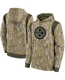 Men's Camouflage Pittsburgh Steelers 2021 Salute To Service Therma Performance Pullover Hoodie