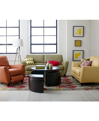 Almafi Leather Sofa Living Room Furniture Collection - Furniture ...