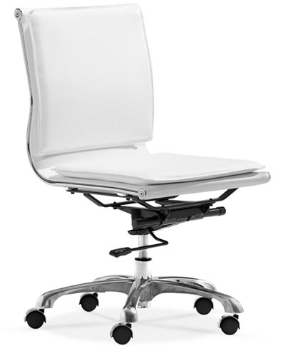 Brayden Faux Leather Armless Office Chair, Quick Ship