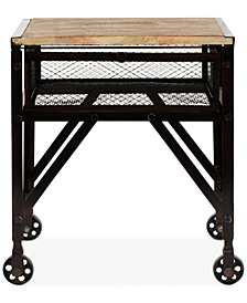 Reznor Rolling End Table, Quick Ship