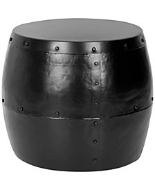 Xander Iron Drum Stool, Quick Ship