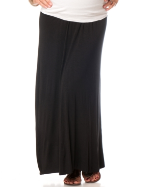 Motherhood Maternity Foldover-Waist Maxi Skirt plus size,  plus size fashion plus size appare