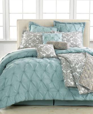 jasmine blue 10pc california king comforter set