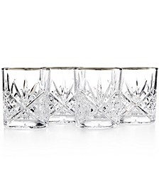 Dublin Platinum Double Old Fashioned Glasses, Set of 4