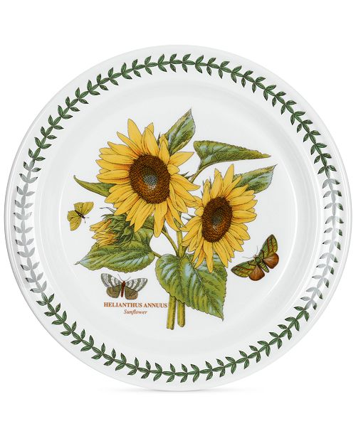 Portmeirion Dinnerware Botanic Garden Sunflower Dinner Plate ...