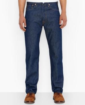 1950s Style Men's Pants Levis Mens Big and Tall 501 Original Shrink to Fit Jeans $69.50 AT vintagedancer.com