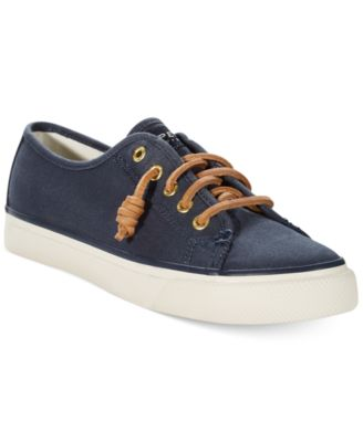 Sperry Womens Seacoast Canvas Sneakers Womens Shoes