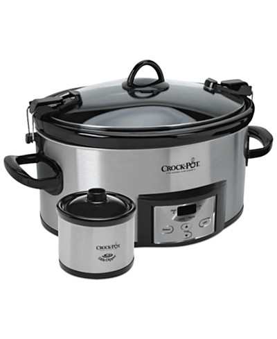 Crock-Pot SCCPVL619-S-A Programmable Cook & Carry with Little Dipper Warmer, 6 Qt.