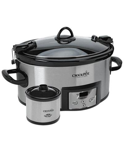 Crock-Pot SCCPVL619-S-A Programmable Cook & Carry with Little Dipper Warmer, 6 Qt.