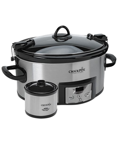 Crock Pot Sccpvl619 S A Programmable Cook Carry With Little Dipper