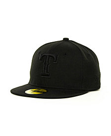 New Era Kids' Texas Rangers MLB Black on Black Fashion 59FIFTY Cap