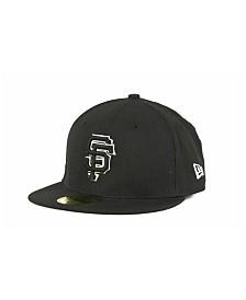 New Era Kids' San Francisco Giants MLB Black and White Fashion 59FIFTY Cap