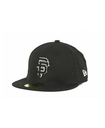 buy online f65ac 5cc13 ... germany new era kids san francisco giants mlb black and white fashion 59fifty  cap 44582 6211a