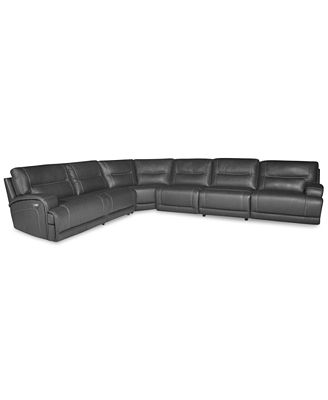 Caruso Leather 6 Piece Power Motion Sectional Sofa