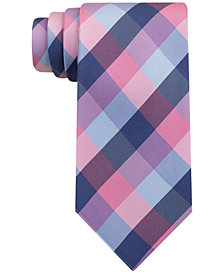 Tommy Hilfiger Men's Extra-Long Classic Buffalo Check Silk Tie