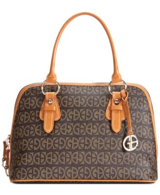Image of Giani Bernini Block Signature Dome Satchel, Only at Macy's
