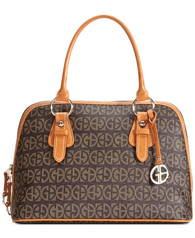 Giani Bernini Block Signature Dome Satchel, Created for Macy's