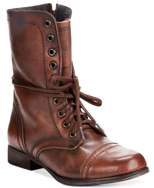 0ba5832dc57 Steve Madden Women s Troopa Combat Boots   Reviews - Boots - Shoes ...