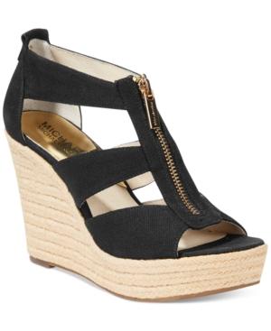 Michael Michael Kors Damita Platform Wedge Sandals Womens Shoes