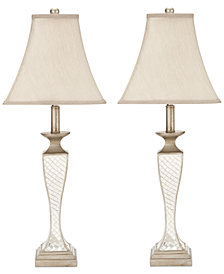 Safavieh Set of 2 Kailey Glass Lattice Lamps