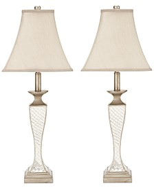 Set of 2 Kailey Glass Lattice Lamps