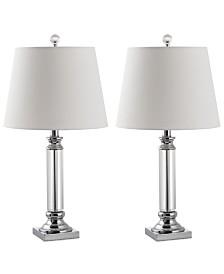 Safavieh Set of 2 Zara Crystal Table Lamps