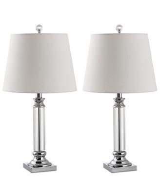 Safavieh Set Of 2 Zara Crystal Table Lamps Lighting Lamps Home