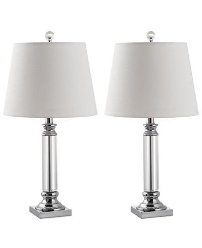 Safavieh Set of 2 Zara Crystal Table Lamps - Safavieh Set Of 2 Zara Crystal Table Lamps - Lighting & Lamps