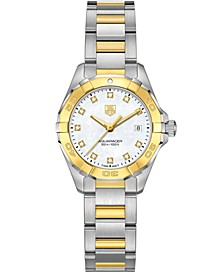 Women's Swiss Aquaracer Diamond Accent 18k Gold-Capped Stainless Steel Bracelet Watch 27mm WAY1451.BD0922