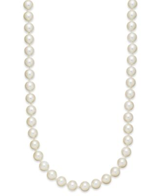 Kiska Imitation Pearl 24 Inch Strand Necklace (8mm)