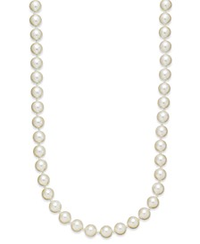 "Imitation Pearl (8mm) Strand Necklace, 24"" + 2"" extender, Created for Macy's"