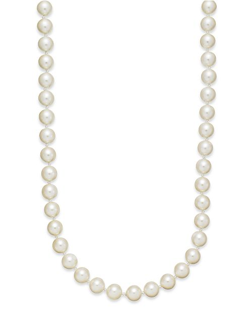 Charter Club Imitation Pearl 42 Inch Strand Necklace (8mm)