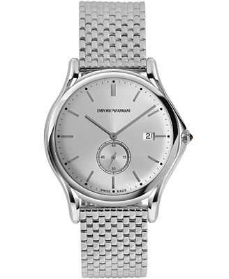 Emporio Armani Men's Swiss Stainless Steel Bracelet Watch 40mm ARS1006