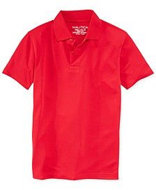 School Uniform Performance Polo, Little Boys