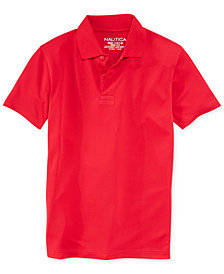 Nautica Boys' Husky Uniform Performance Polo, Husky Boys
