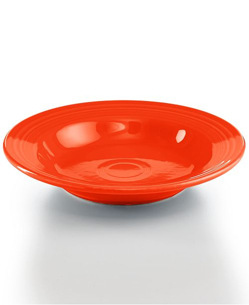 Fiesta Poppy Rim Soup Bowl