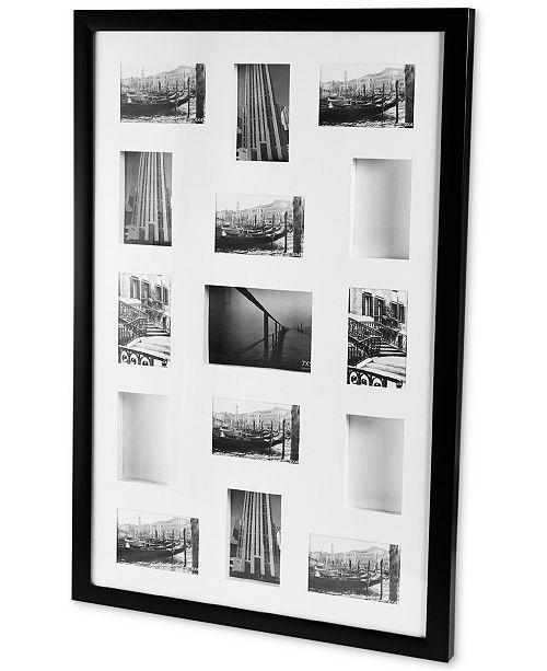 """Mikasa Black Shadowbox Collage, 23"""" x 35"""""""
