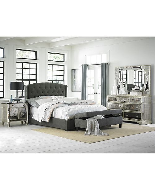 Furniture Lesley Upholstered Queen Bed Furniture Macy 39 S