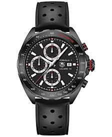 Men's Swiss Automatic Chronograph Formula 1 Calibre 16 Black Perforated Rubber Strap Watch 44mm CAZ2011.FT8024