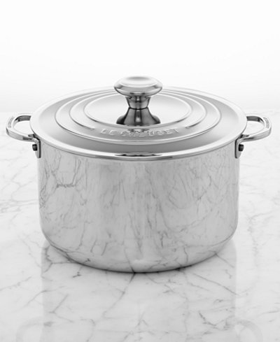 Le Creuset Stainless Steel 7 Qt Covered Stockpot