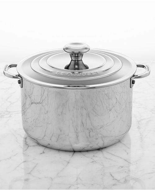 Le Creuset 7 Qt Stainless Steel Stockpot With Lid