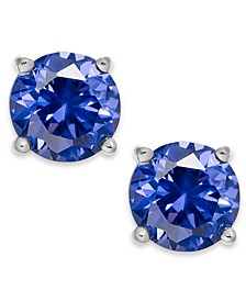 Periwinkle Cubic Zirconia Stud Earrings in Sterling Silver (2 ct. t.w.)
