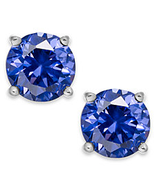 Giani Bernini Periwinkle Cubic Zirconia Stud Earrings in Sterling Silver (2 ct. t.w.)