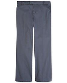 Girls' or Little Girls' Uniform Adjustable-Waist Bootcut Pants