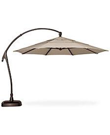 Outdoor Bronze 11' Cantilever Umbrella & Base, Quick Ship